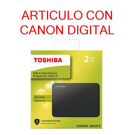 DISCO DURO EXTERNO DE 2,5 PULGADAS USB 3.0 DE TOSHIBA 2TB (HDTB420EK3AA) Negro