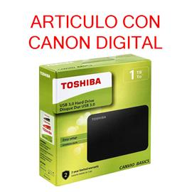 DISCO DURO EXTERNO DE 2,5 PULGADAS USB 3.0 DE TOSHIBA 1TB (HDTB410EK3AA) Negro