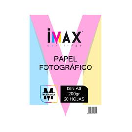 PAPEL FOTOGRAFICO BRILLO IMAX® DIN A6 (200gr) (20Hojas)