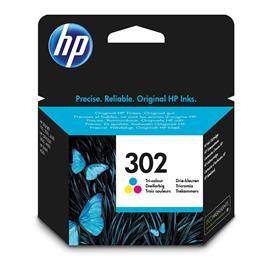 CARTUCHO ORIGINAL (F6U65AE Nº302) PARA IMPRESORAS HP - 165pag - Color